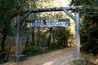 The gate at Muir Woods National Monument
