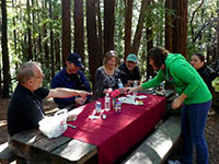 Tom Martell Supplies a very tasty picnic lunch with his walking tour of Muir Woods